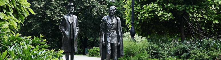 Bartók és Kodály a Petőfi ligetben