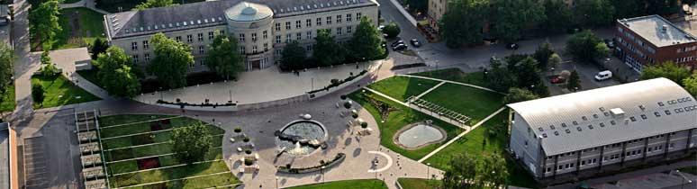 A Dunaújvárosi Egyetem látképe