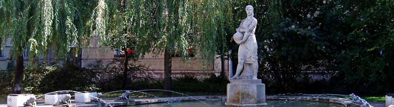 Korsós lány szobra (Békás szökőkút)