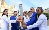 Hírkép: Átvette Győr az ifjúsági olimpia lángját