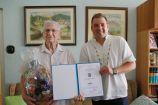 Hírkép: Újabb 90 éves szépkorút köszöntött az önkormányzat