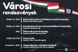 Hírkép: Több városi ünnepség és megemlékezés közeleg, amelyre tisztelettel várjuk a lakókat